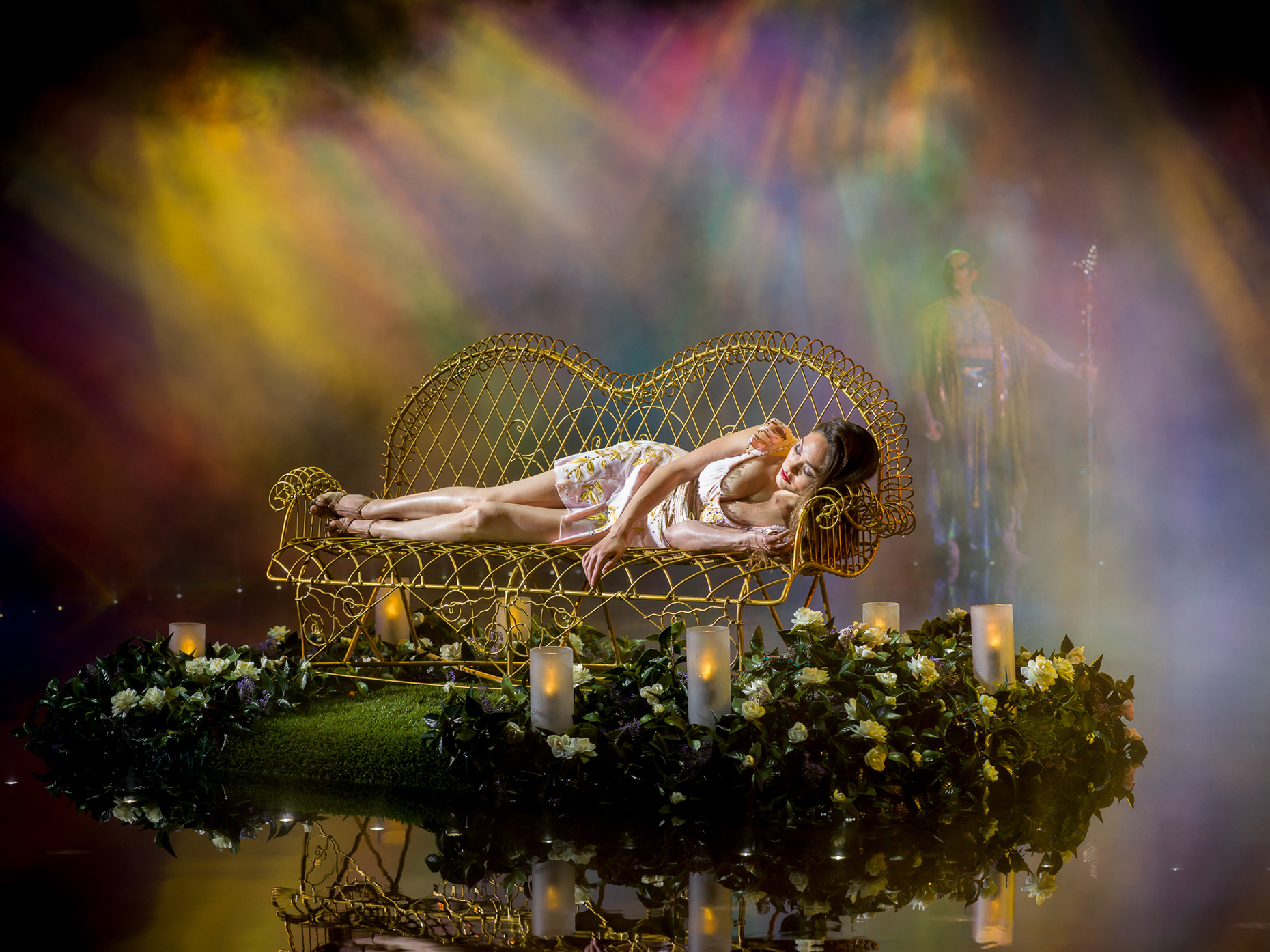 The dreamer on her bench Le RÊVE the Dream show At the Wynn Las Vegas Advertising