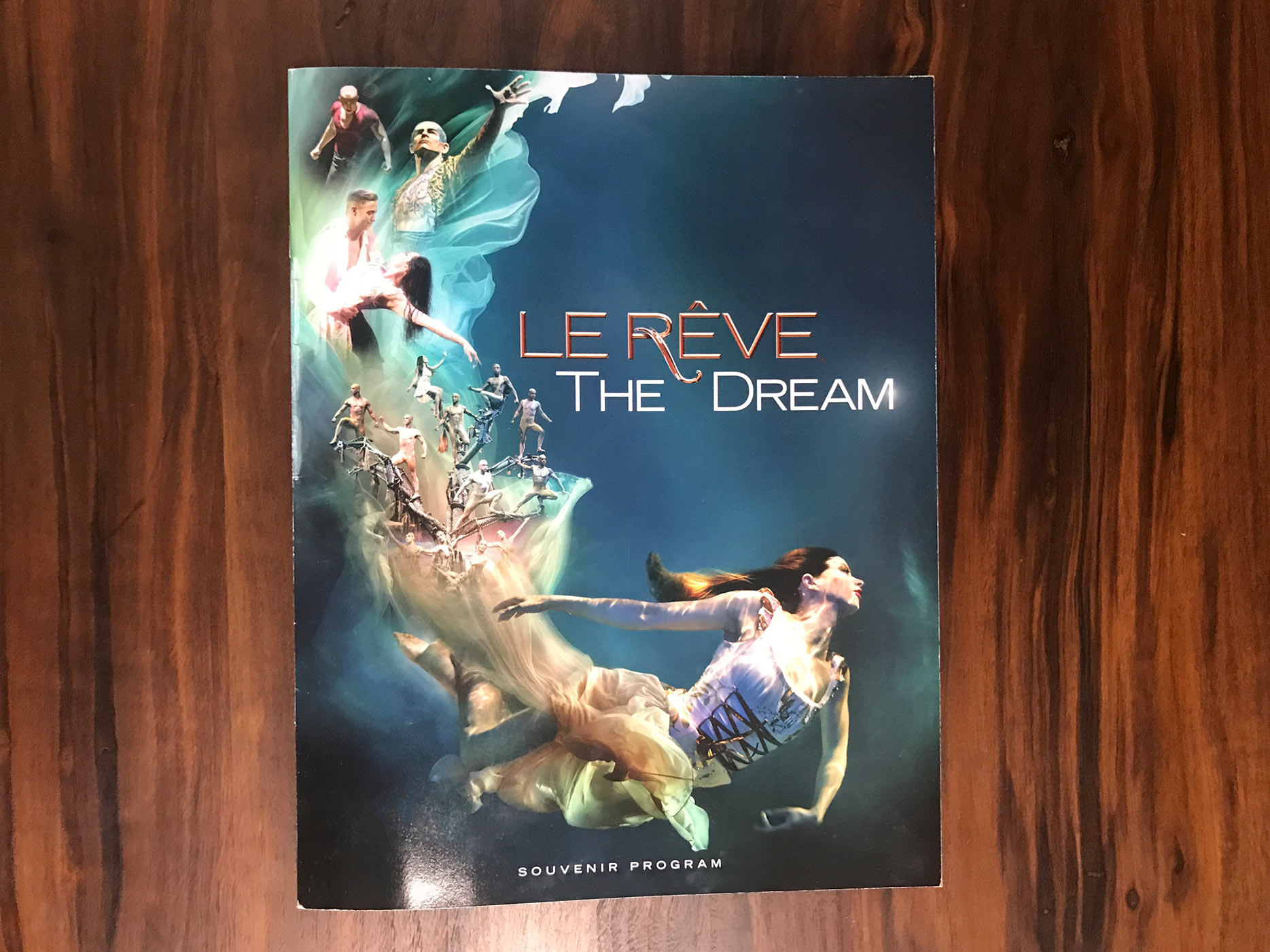 Souvenir program for Le Reve the show at the Wynn Las Vegas