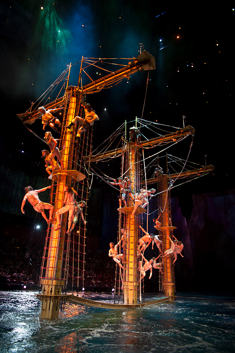 Pirates Boat The House of Dancing Water show at the City of Dreams Macau marketing and promotional shots