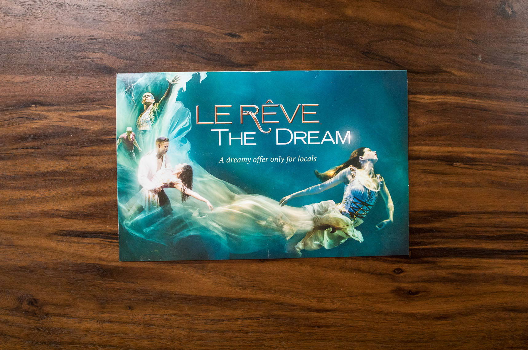 Advertising for Le Reve the show At the Wynn Las Vegas