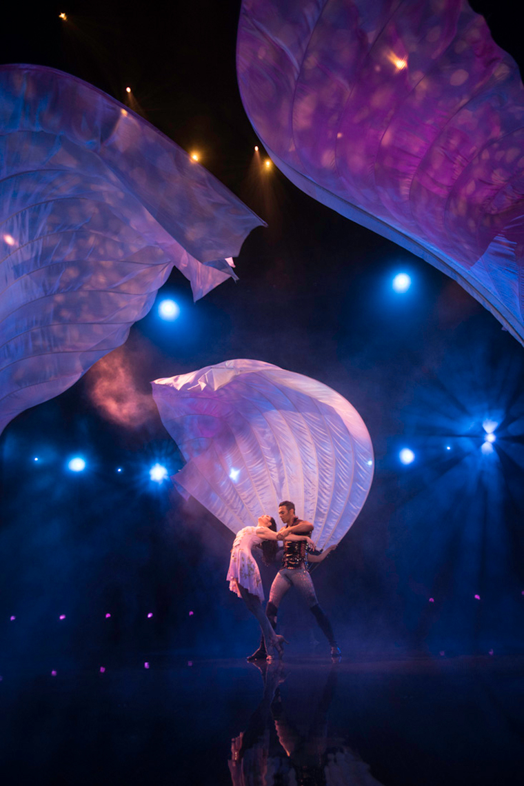 Man Fans Le RÊVE the Dream show At the Wynn Las Vegas Advertising
