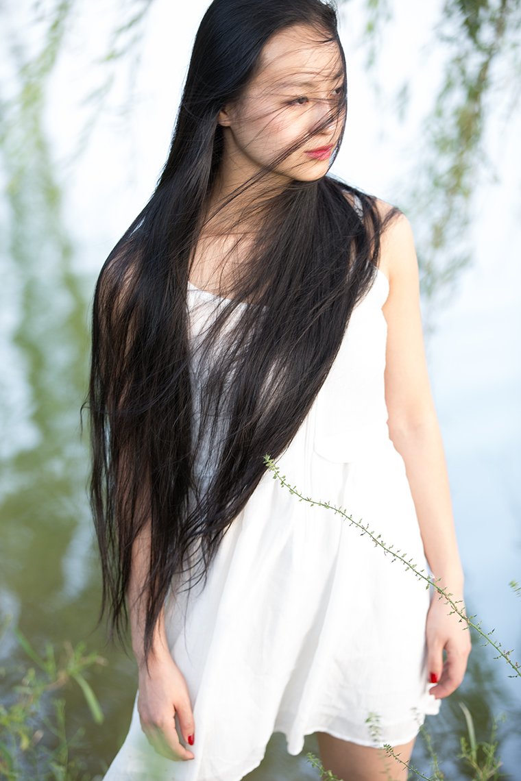 asian Beauty in the wind