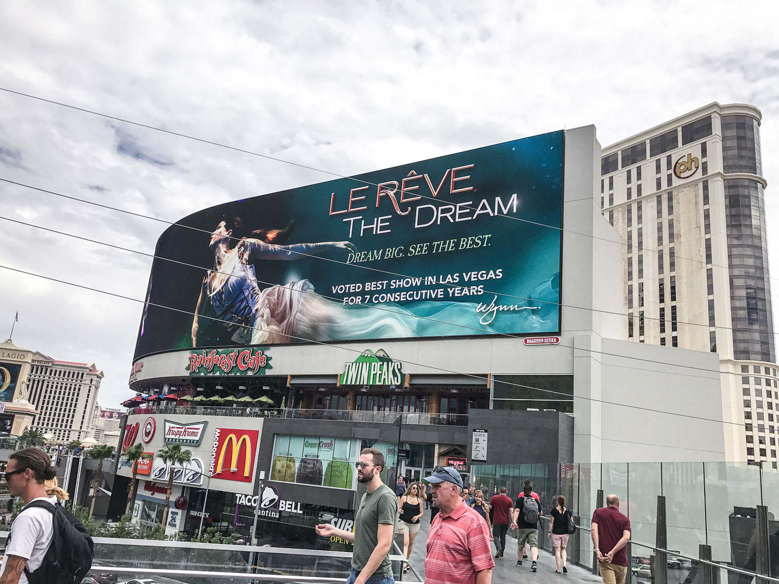 Big Moving bill board Advertising for Le Reve the show At the Wynn Las Vegas